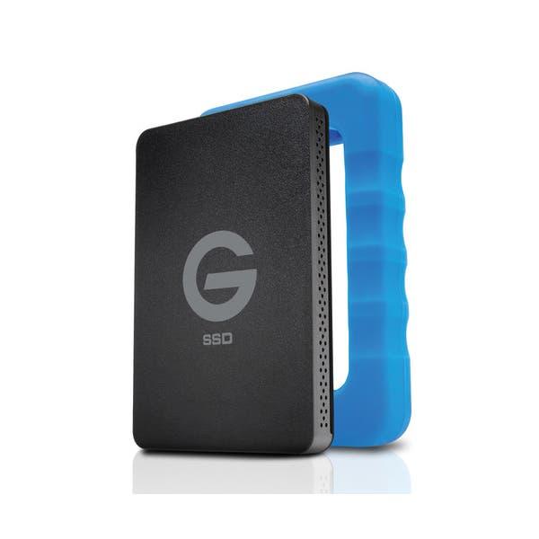 G-Technology 500GB G-DRIVE ev RaW USB 3.0 SSD with Rugged Bumper