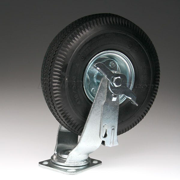 "10"" Flatbuster Swivel Caster with Brake 79FB103A101TLB"