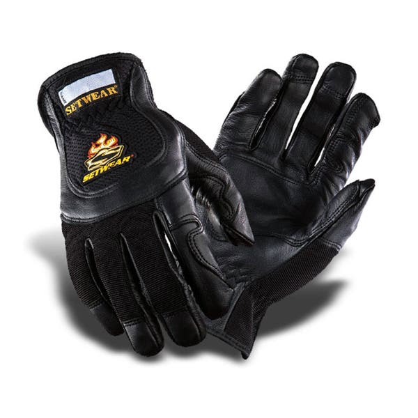 Setwear Pro Black Leather Gloves (Various Sizes)