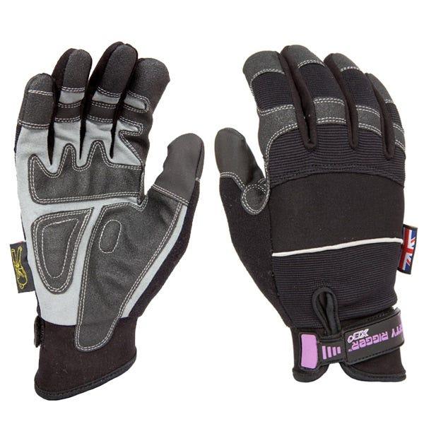 Dirty Rigger Black Slim-Fit Gloves