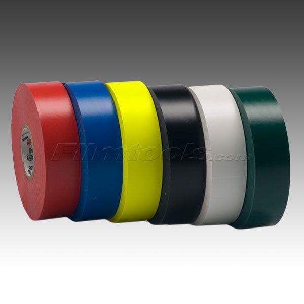 "3M 3/4"" Scotch Vinyl Electrical Tape - 6 Colors - 3/4"" x 66 feet"