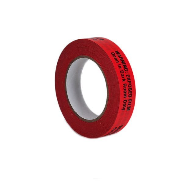 "ProTapes 1"" Warning Label Adhesive Tape - Red"