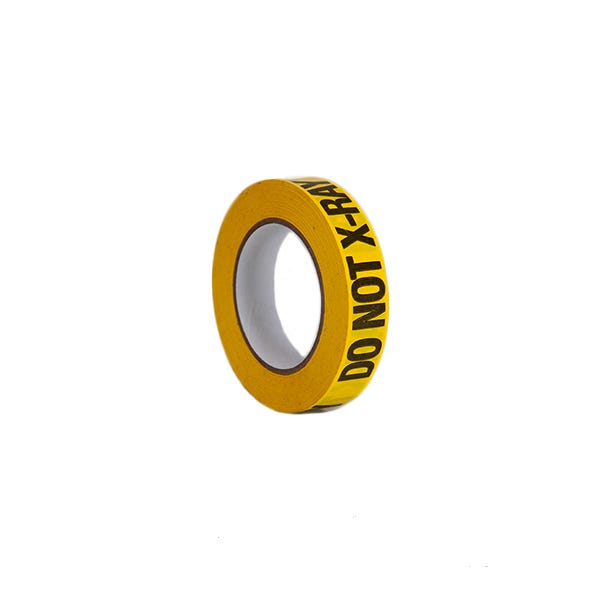 "ProTapes 1"" Do Not X-Ray Label Adhesive Tape - Yellow"