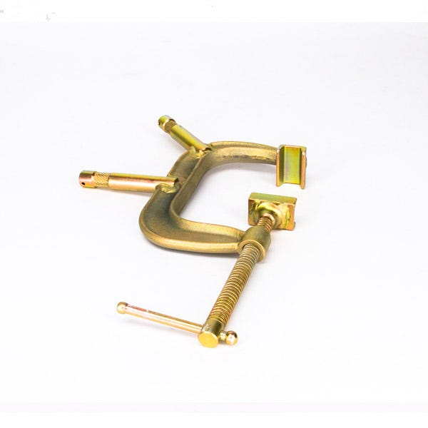 """Modern Studio Equipment 4"""" C-Clamp with 5/8"""" Baby Pins"""