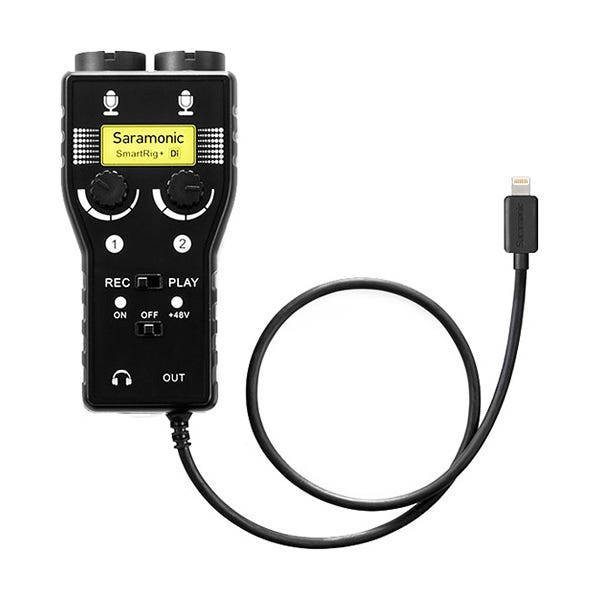Saramonic SmartRig+ Di, Two-Channel Mic and Guitar Interface with Lightning Connector for iOS Devices
