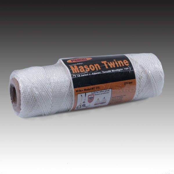 Keson Twisted Nylon Mason Line 275' - WT275