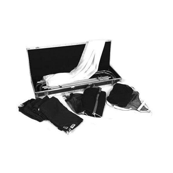 Matthews Studio Equipment 6 x 6' Butterfly Survival Kit - Break-a-Part Frame, Single, Double Scrims, Solid Black, Artificial Silk, Kit Case