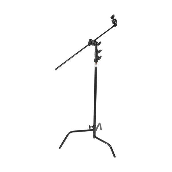 "Matthews Studio Equipment 40"" Black Hollywood C-Stand with Sliding Leg, Grip Head & Arm"