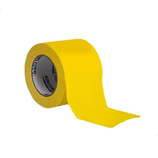 """ProTapes 4"""" Cable-Path Zone Tape - Yellow"""