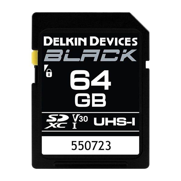 Delkin Devices 64GB BLACK UHS-I (U3/V30) SDXC Memory Card